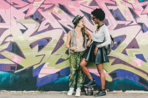 afro-punk-leather-skirt-street-style