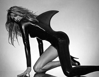 Shiny Black Latex Shark Outfit Shot By Bob Carlos Featured Jpg