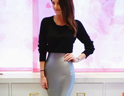 Stephanie Peers Blogger Wears Latex Skirt Featured Jpg