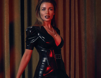 Dannii Minogue Latex Gown Featured Jpg