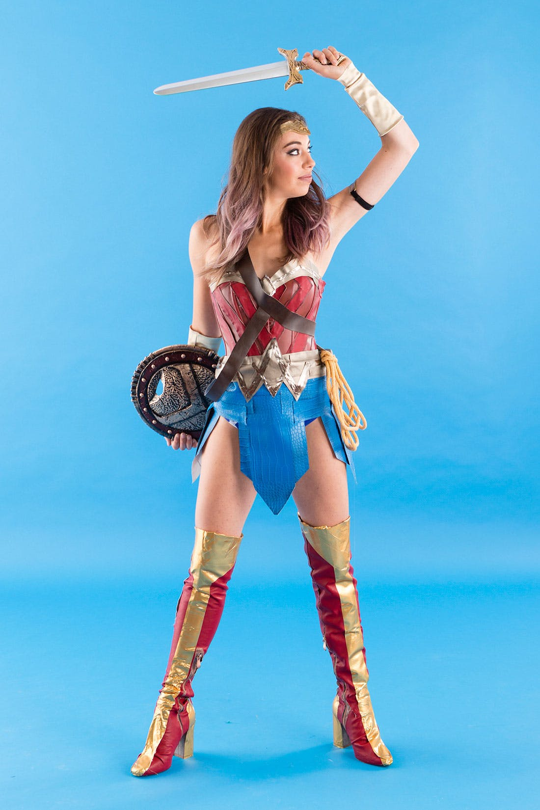 Faux leather wonder woman and amazons halloween costumes be sure to take lots of selfies because were sure that wonder woman herself would approve of these head turning looks happy halloween solutioingenieria Gallery