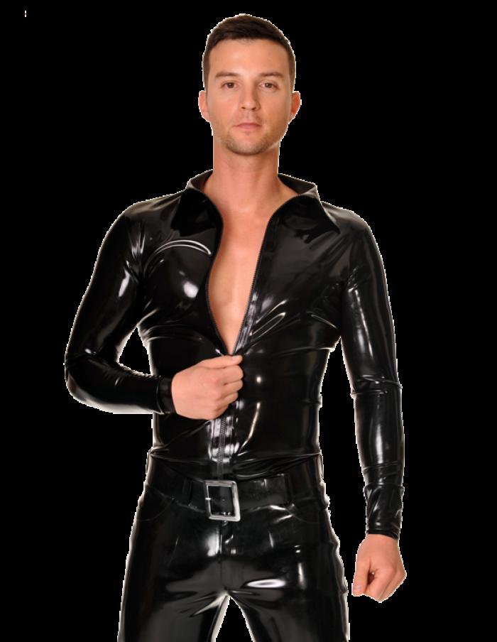 Male latex costume agree