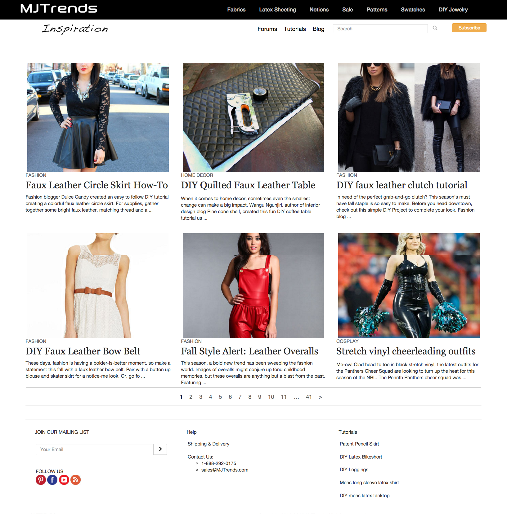 Downloadable screenshot of MJTrends website