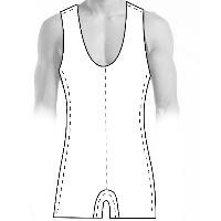 mens Mens wrestling tank suit pattern