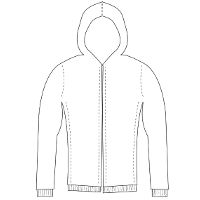 Mens custom sewing pattern: Athletic Fit Hoody