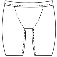 mens bike short pattern