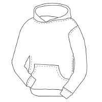 mens loose fit hoody pattern