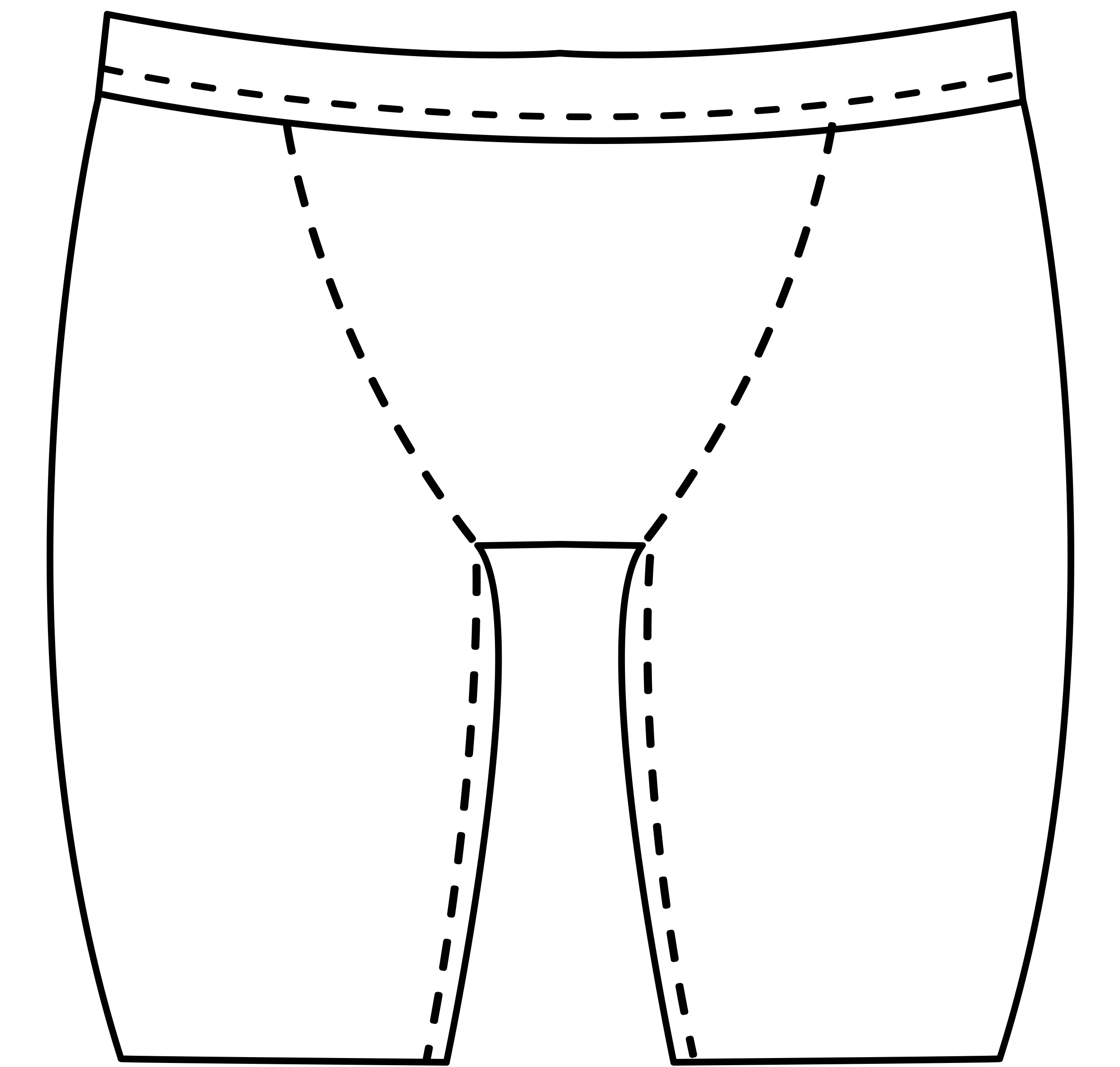 Mens custom bike short pattern for use with latex, vinyl, or other fabrics. thumbnail image.
