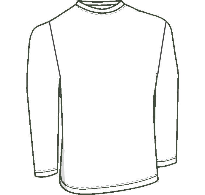 Mens custom long sleeve shirt pattern for use with leather, stretch pleather, vinyl, latex, or other stretch fabrics. thumbnail image.