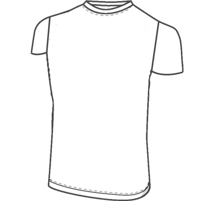 Mens custom short sleeve shirt clothing pattern for use with latex, vinyl, or other fabrics.