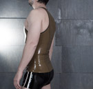 Side view of the mens latex tanktop thumbnail image.