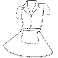 womens Waitress puff dress pattern