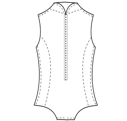 Womens custom-fit bodysuit sewing pattern for Halloween costumes.