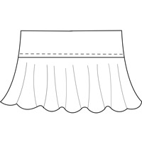 womens ruffle skirt pattern
