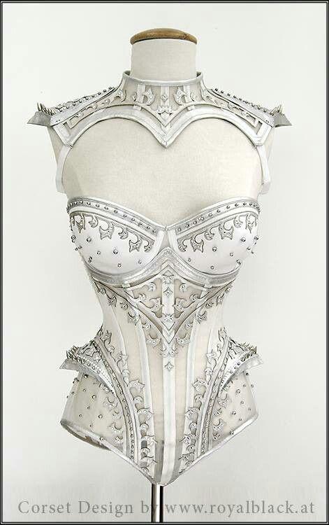 Amazing white leather corset