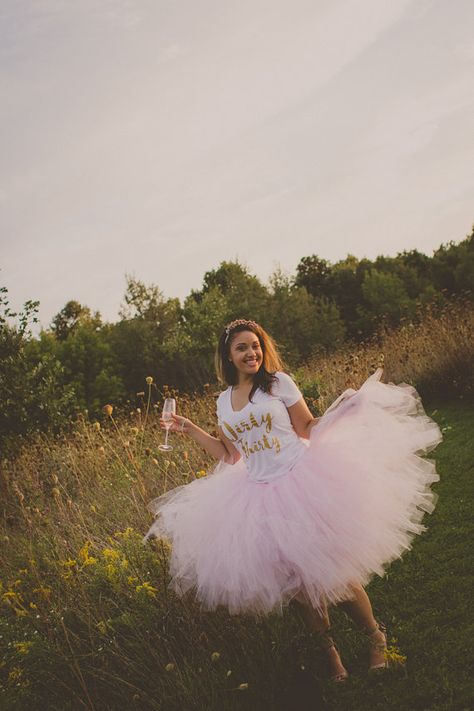 Baby pink tulle fluff dress