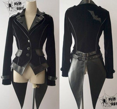 Black steampunk-inspired jacket