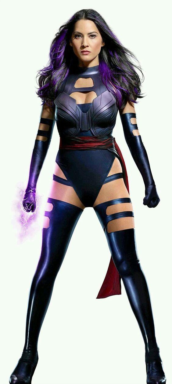 Black latex Psylocke costume