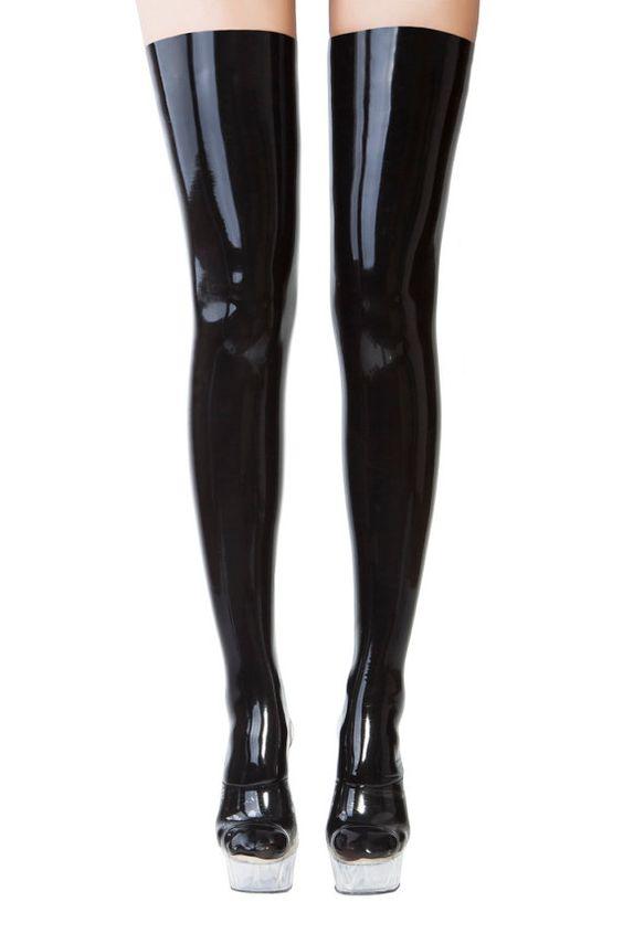 Black latex stockings
