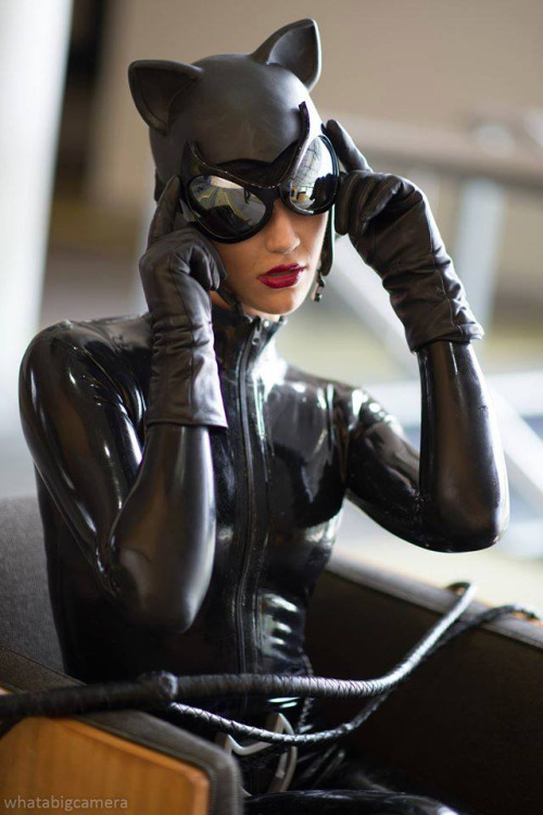 Image Of Black Latex Catwoman Catsuit