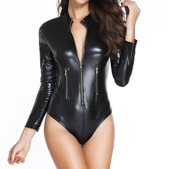 Black metallic spandex for bodysuits
