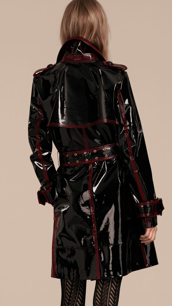 Image Of Patent Vinyl Trench Coat