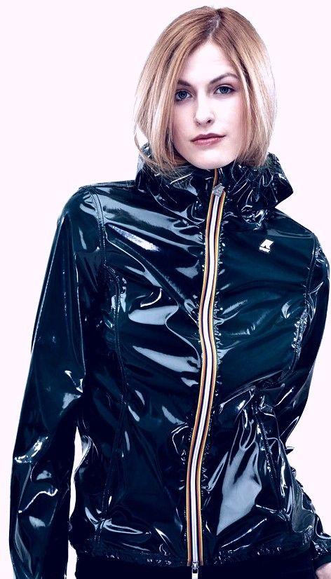 Black PVC hoodie