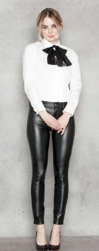 Black veggie leather pants