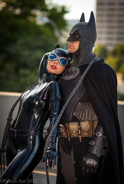 Catwoman and Batman Cosplay