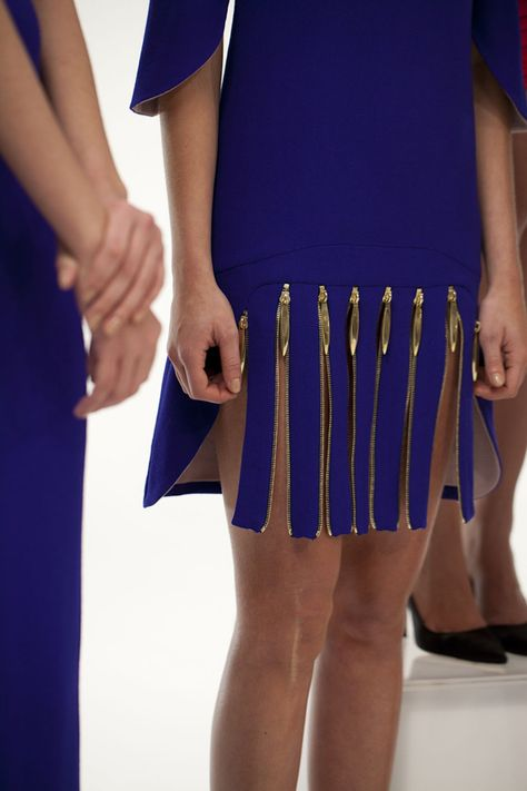 Brass zipper skirt
