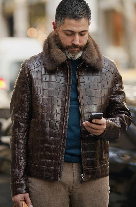 Brown snakeskin jacket