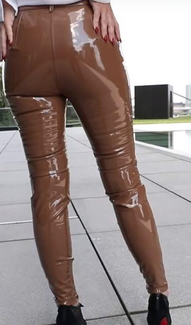 Chocolate stretch vinyl fabric