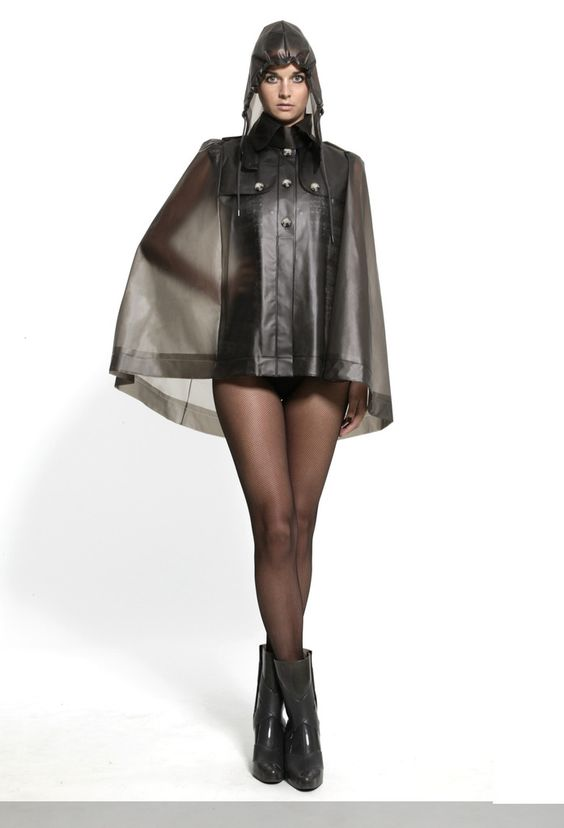 Image Of Grey Clear Vinyl Cape