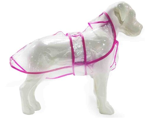 Clear vinyl dog raincoat