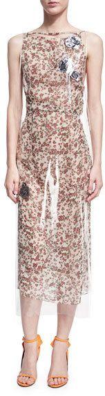 Dress with vinyl overlay