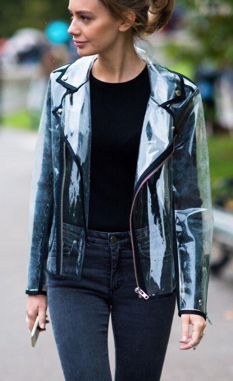 Clear vinyl jacket