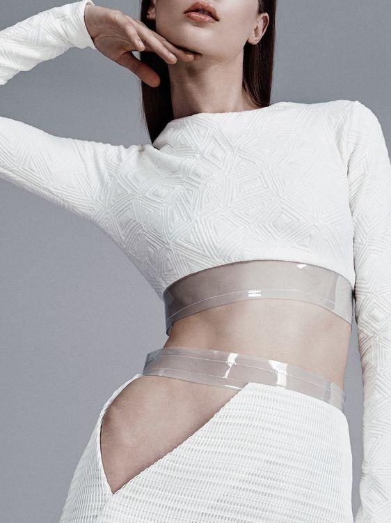 Skirt set with vinyl trim