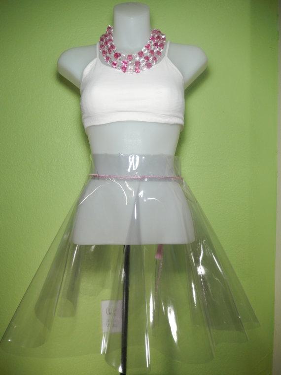 Clear vinyl skater skirt