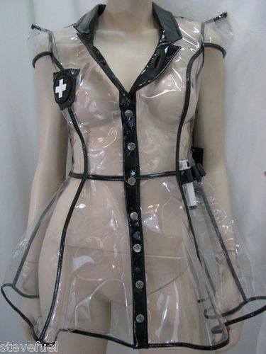 Transparent nurse uniform for Halloween