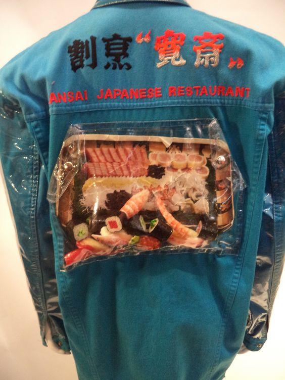 Clear vinyl sushi coat