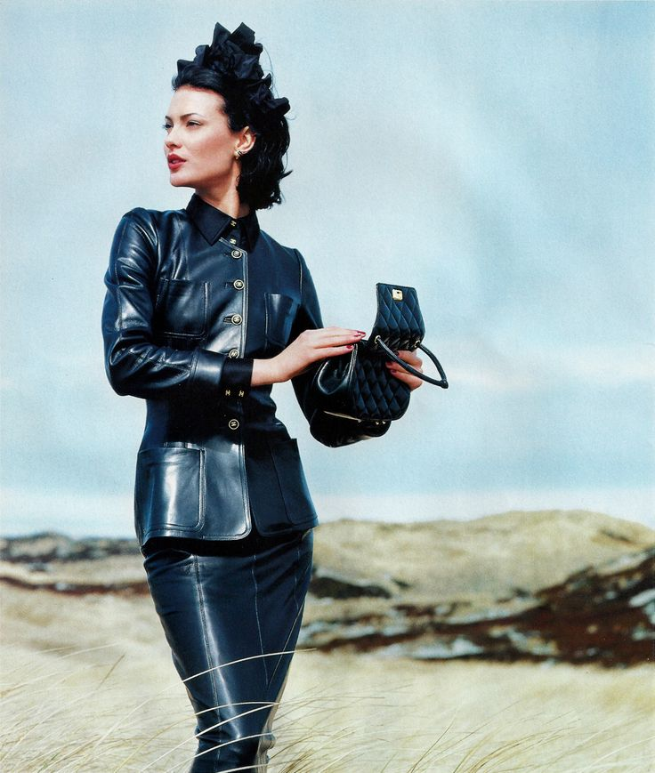 Couture leather outfit