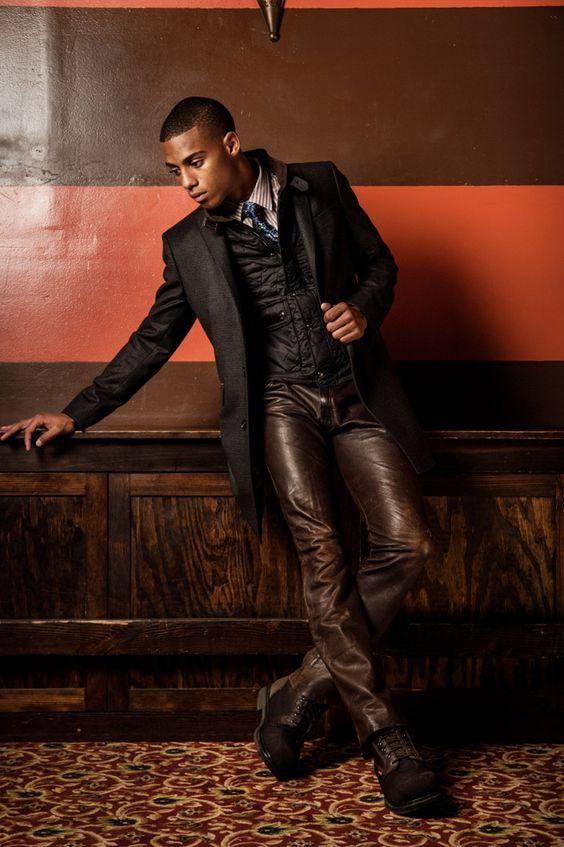Deep brown leather hides