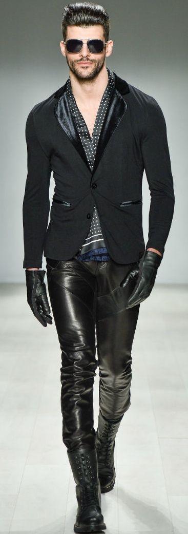 Men's faux leather pants