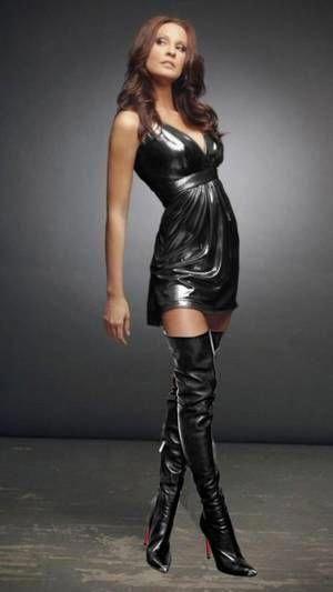 Drapey shiny dress