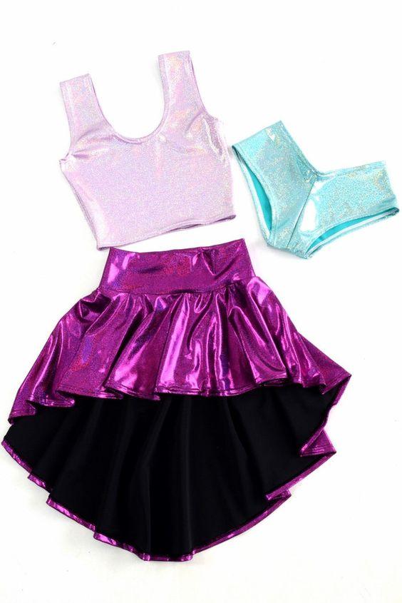 Foil Spandex for dancewear