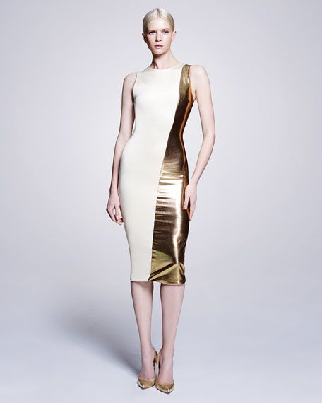 Gold metallic spandex