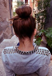 White shirt with gold studs