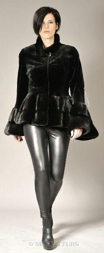 Gunmetal faux leather pants