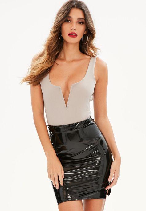 High gloss plastic for skirts