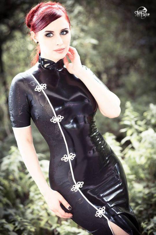 Latex Cheongsam dress